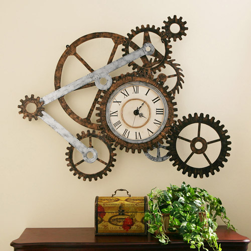 Southern Enterprises Gear Wall Clock