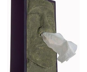 Moai Head Tissue Box Cover