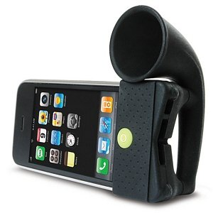 PORTABLE AMP FOR IPHONE HORN STAND BLACK