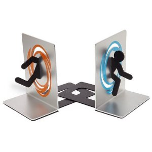 Portal 2 Bookends for Shelf & Books
