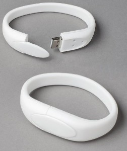 White Wristband 16GB USB