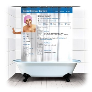FaceBook Shower Curtain