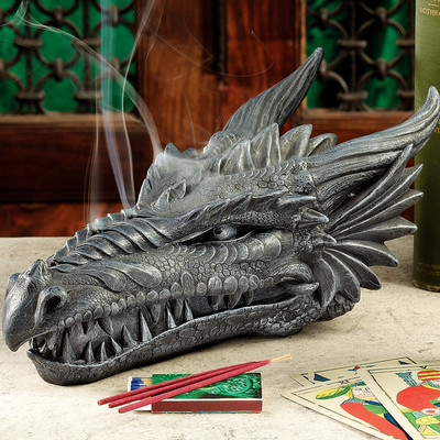 dragon incense head