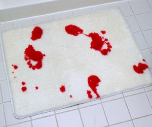 blood bath door mat