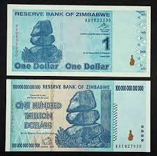 Zimbabwe 100 Trillion Dollar Bill