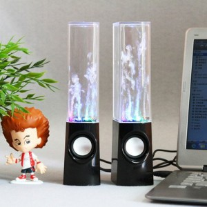 Illuminated Dancing Water Speakers