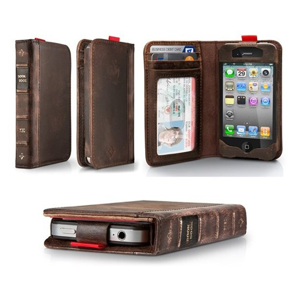 Old Book Case For Iphone : Iphone leather book case wallet