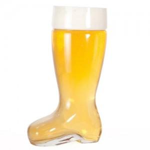 1L Glass Beer Boot Mug
