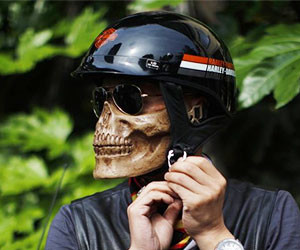 Skull Skeleton Half Face Mask