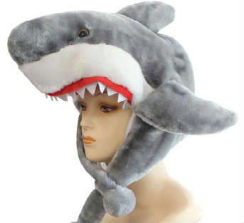 animal winter headgear hat shark