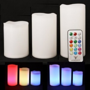 Color Changing Flameless Candles
