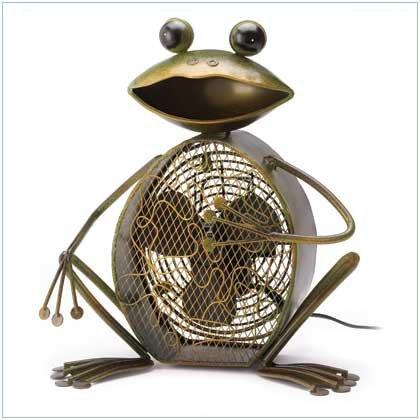 Funny Metal Frog Fan