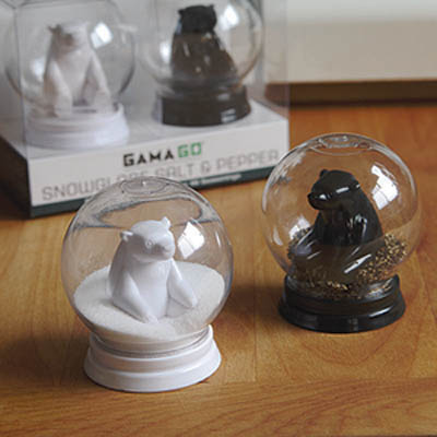 Snow Globe Salt and Pepper Shakers
