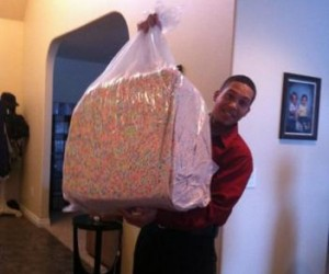 bag of lucky charm marshmallows