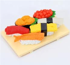 Japanese Sushi  Eraser Set