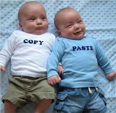 copy paste twin baby tshirts