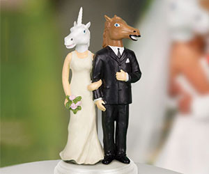 Creepy Wedding Cake Topper