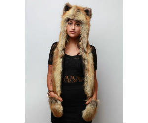 Red Fox Full Animal Hoodie Hat