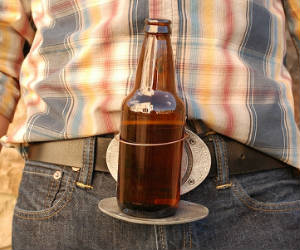 Belt Buckle Beer Holder