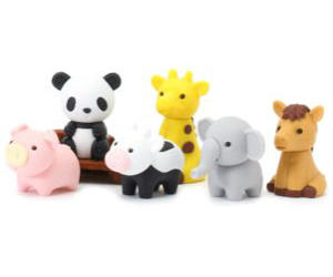 Japanese Zoo Animals Erasers