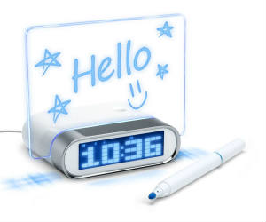 Glowing Memo Board Alarm Clock