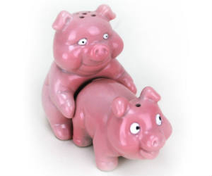 Naughty Pigs Salt & Pepper Shakers