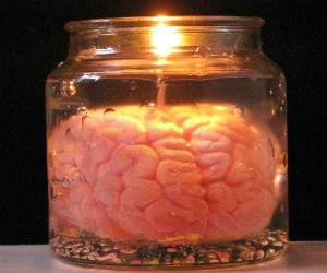 Brain in Jar Candle