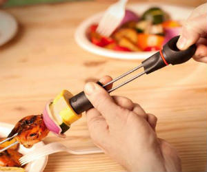 Easy Slide Off BBQ Skewers