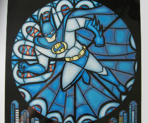 Stained Glass Superhero Prints