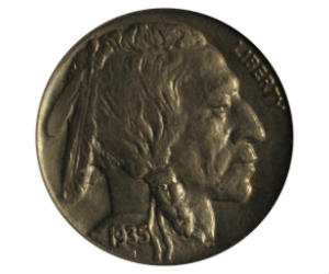 1935 No Mint Mark Buffalo Nickel