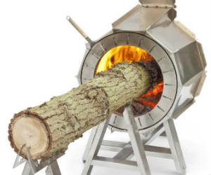 Stove that Burns Tree Trunks
