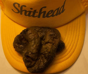 Fake Poop on a Hat