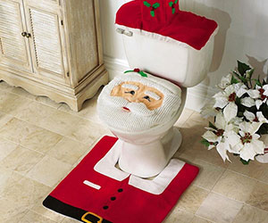 Santa Toilet Seat Cover & Rug Set