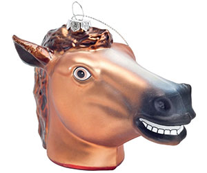 Creepy Horsehead Ornament