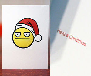 Have a Christmas emotionless card