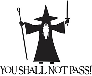 you shall not pass car sticker