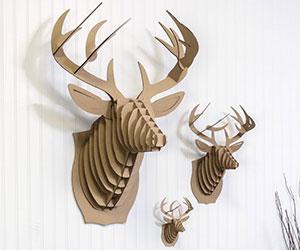 cardboard deer bust