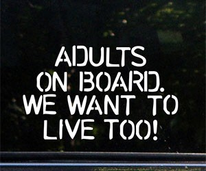 Adults On Board Car Decal