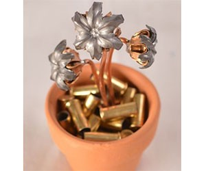 Hollow Bullets Flower Pot