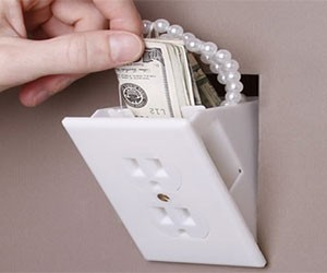 Hidden Fake Wall Outlet Safe