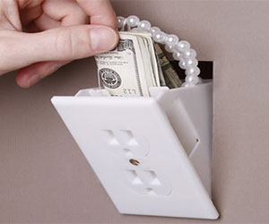 hidden wall socket plug safe