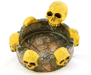 six skulls ashtray