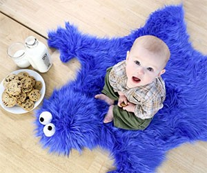 Cookie Monster Throw Rug