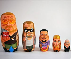 The Big Lebowski Nesting Dolls