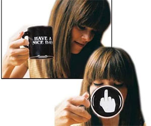 Vansaile Have a Nice Day Coffee Mug Middle Finger coffee mug