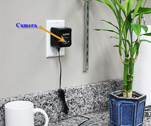 Motion Activated AC Adapter Hidden Camera Self-Recording