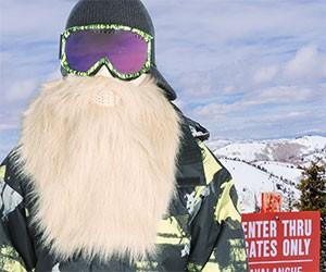 Blond Viking Ski Mask