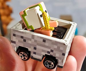 Minecraft Hot Wheels Minecart