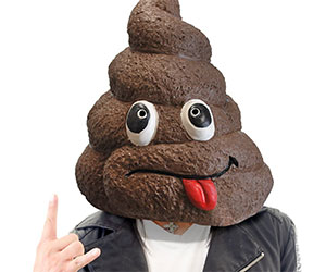 doo poo face mask