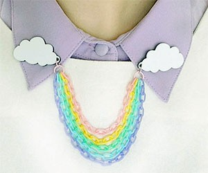 Rainbow Collar Clips